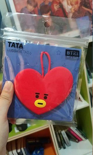 OFFICIAL BT21 TATA LUGGAGE TAG