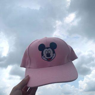 mickey pink cap