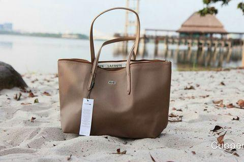Lacoste water resistant tote bag