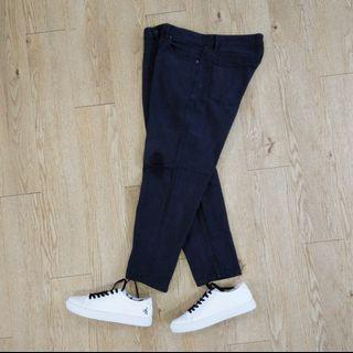 Obey Bender denim 工作褲 滑板褲 牛仔褲 錐形褲 九分褲 黑色 33腰