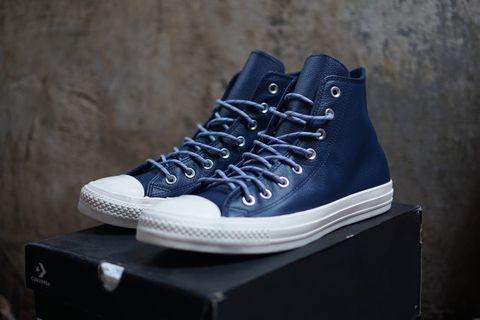 CONVERSE CT AS LEATHER HIGH NAVY 100% LEGIT ORIGINAL