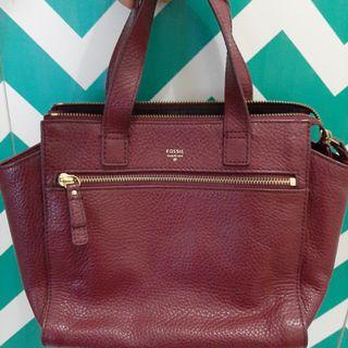👜 Tessa Satchel Wine Fossil Original Authentic