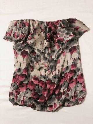 Floral Flowy Tube Top