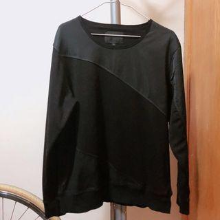 alexander wang 黑色 異材質拼接 衛衣 3號