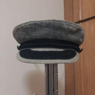 DENIM & SUPPLY  polo副牌 灰色 軍帽 船長帽 復古 做舊