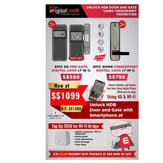Epic 5G Pro gate lock with Epic Shine Smartphone lock,Call 88668884