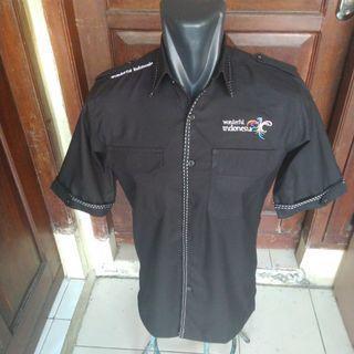 Kemeja wonderful Indonesia hitam