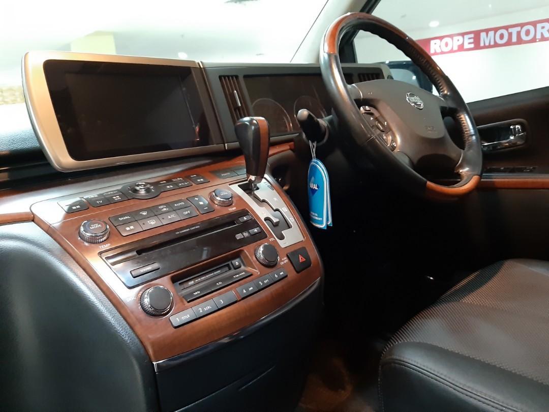 2007 Nissan ELGRAND 2.5 Hws Automatic.FULL OPTION.Kunci KEYLESS.Double SUNROOF.Nopol B-TangSel.Unit Tangan PERTAMA