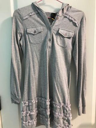 JOJO灰色polo洋裝式上衣
