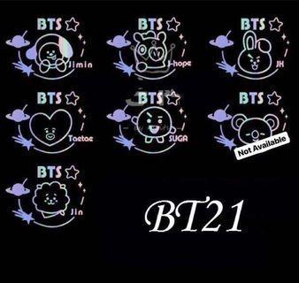 [PRE ORDER] NEW BT21 ARMY BOMB HOLOGRAM STICKER