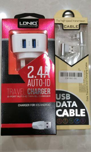 Ldnio Travel charger + Iphone cable