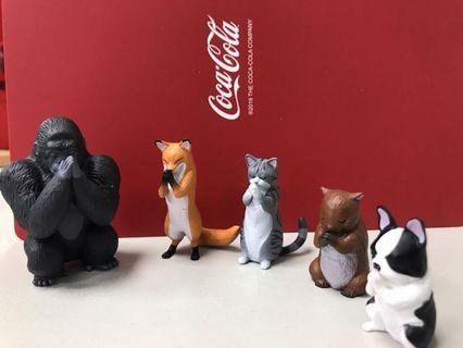 現貨  YELL 合掌祈福動物P4~扭蛋 轉蛋 動物合掌拜拜 一套5款~整套販售 單款販售 法鬥 大猩猩 狐狸 貓咪 ~