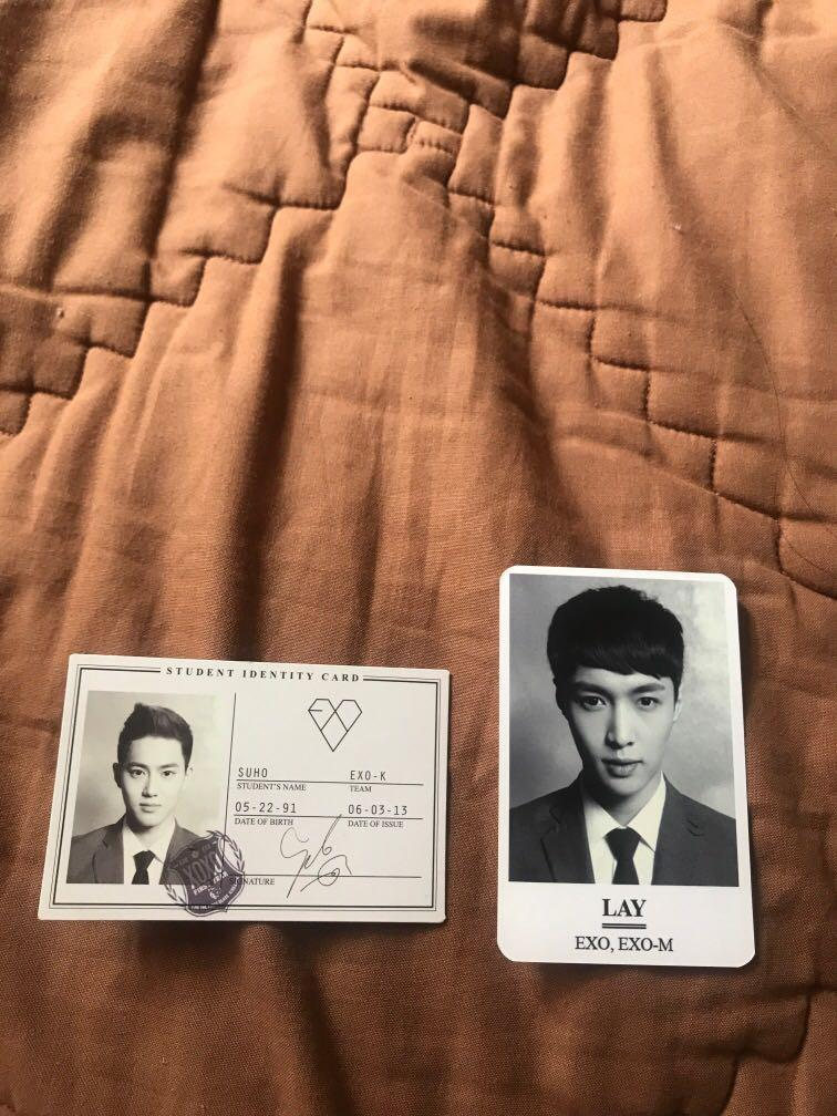 [ DAPET DUA DUANYA ] WOLF ALBUM Name Card Suho + Photo Lay (belakangnya Tao)