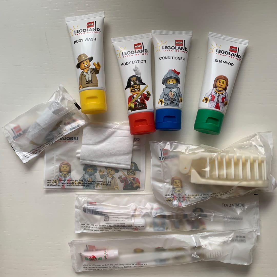 日本 Legoland hotel resort japan 日本樂高樂園酒店 洗頭水沐浴露 牙刷旅行套裝 travel kit 全新 lego brick