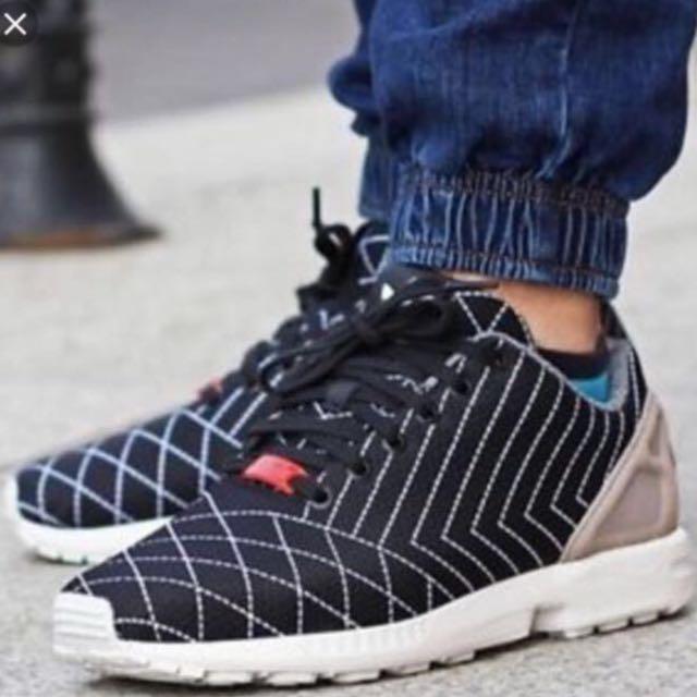 Adidas Torsion ZX Flux Shoes Size US 8 Black