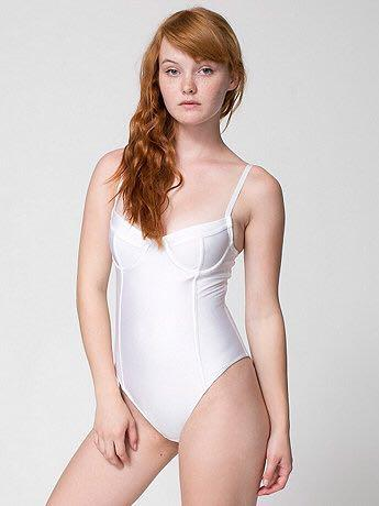 American Apparel Underwire Bra Bathing Suit / Bodysuit