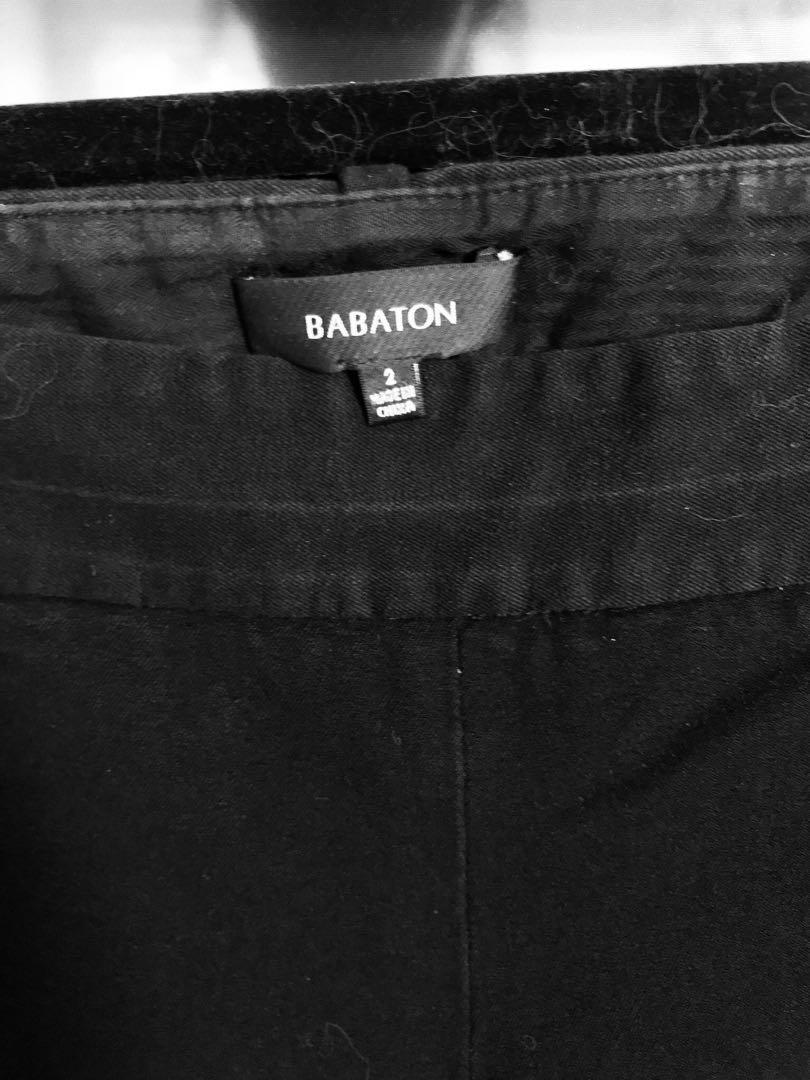 Aritzia Babaton Work Pants Cropped Ankle Length Size 2