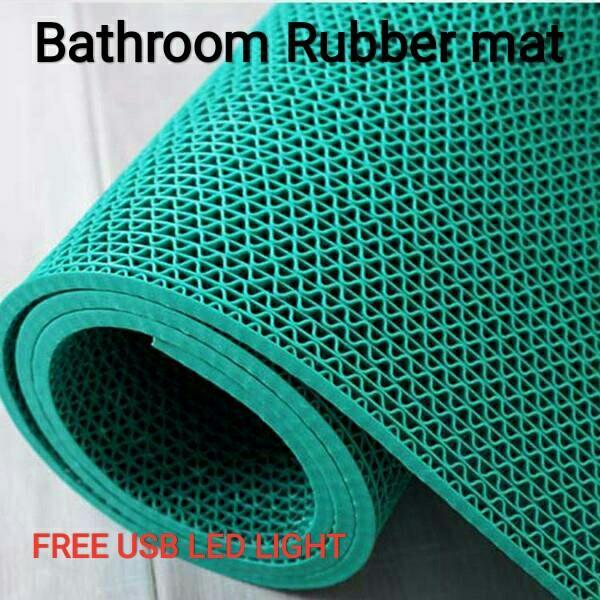 Rubber Bathroom Shower Mat Floor On