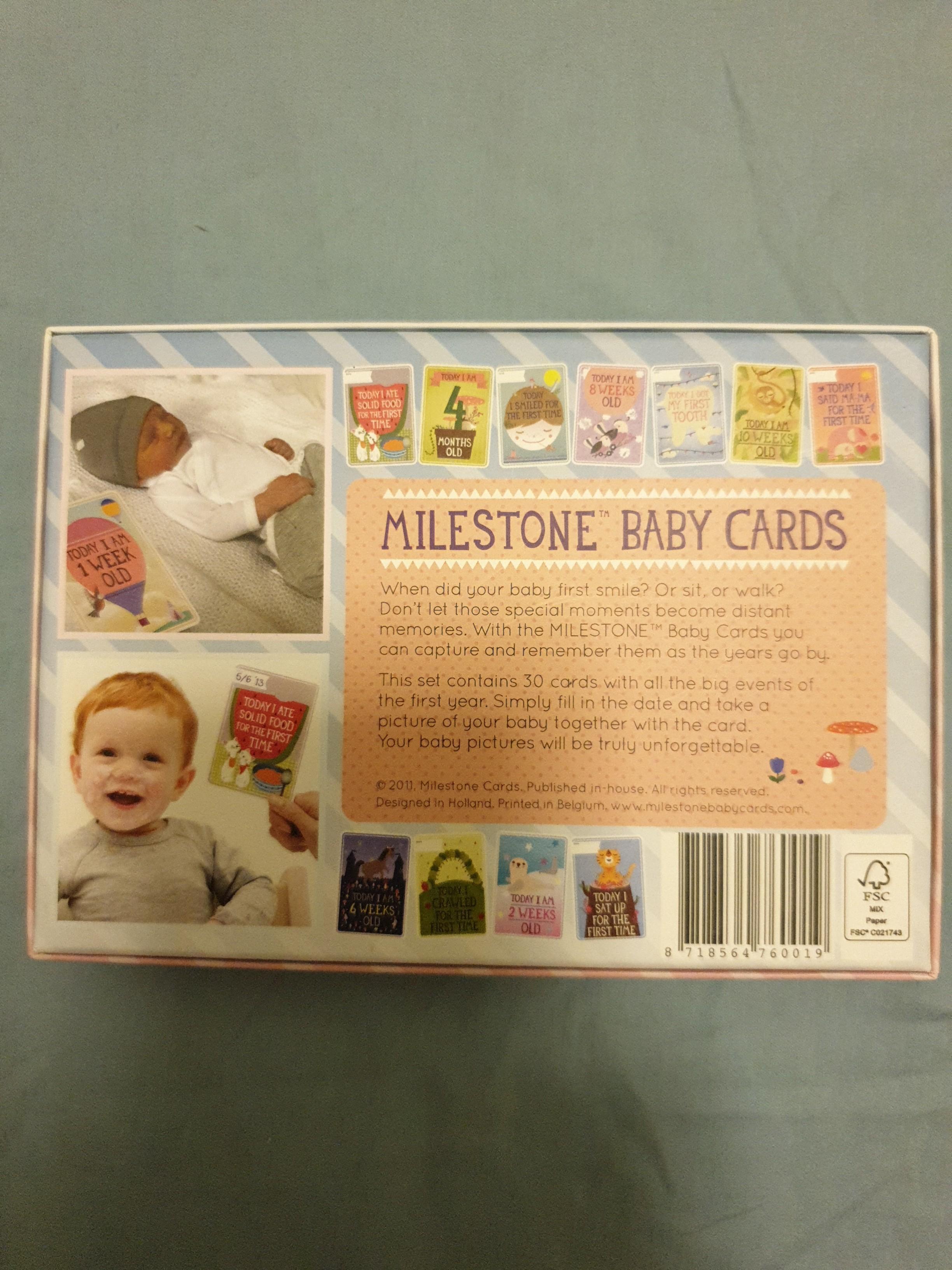 BNIB baby milestone cards