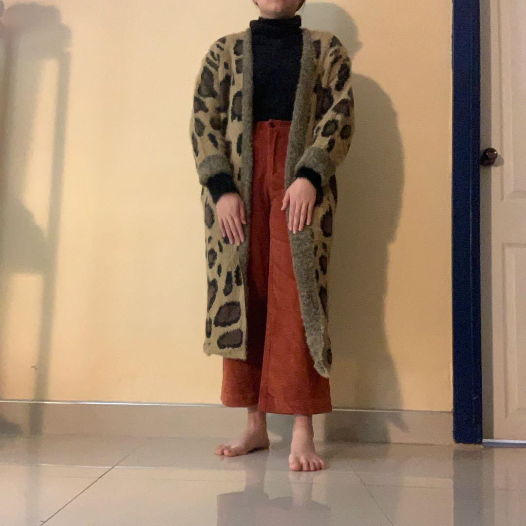 Brand NEW with Tags Sophisticated Leopard Light Brown Long Cardigan