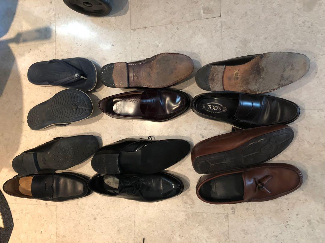 Bundle 2: 6 shoes (Tod's Raoul, Massimo, brooks brothers) size 43, 9, 10