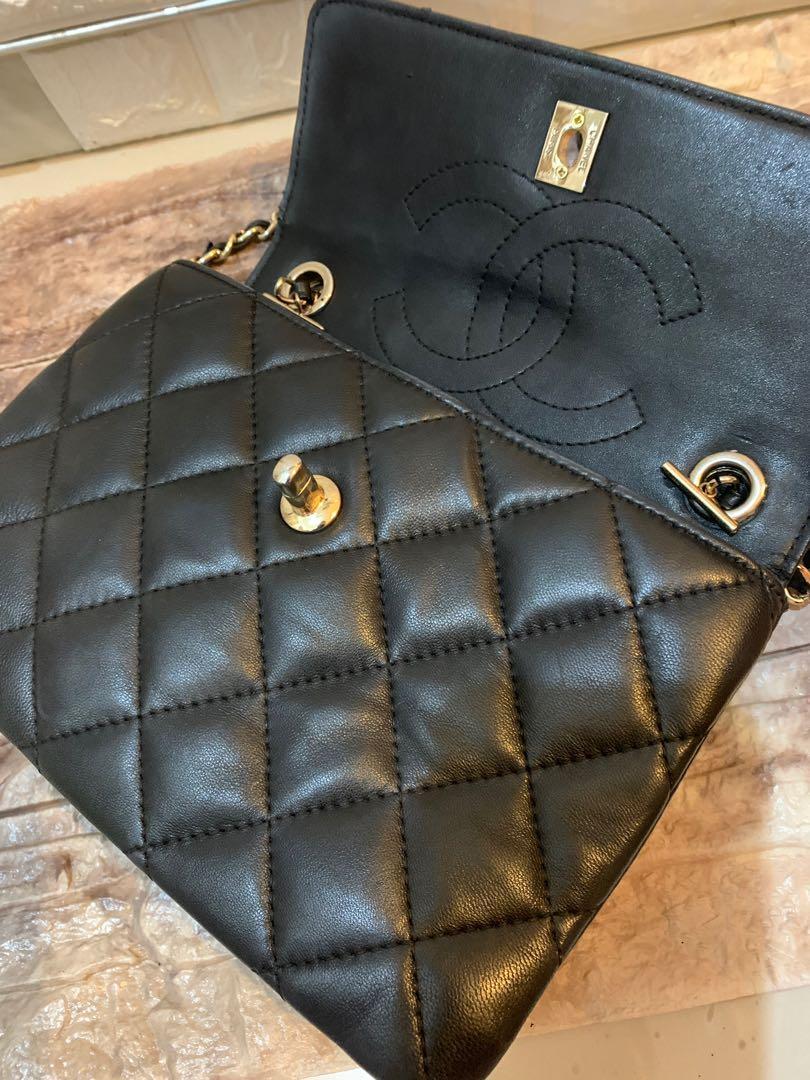 Chanel bag Vip counter gift cantik banget sist full leather original size 23 x 17 cm imut keren