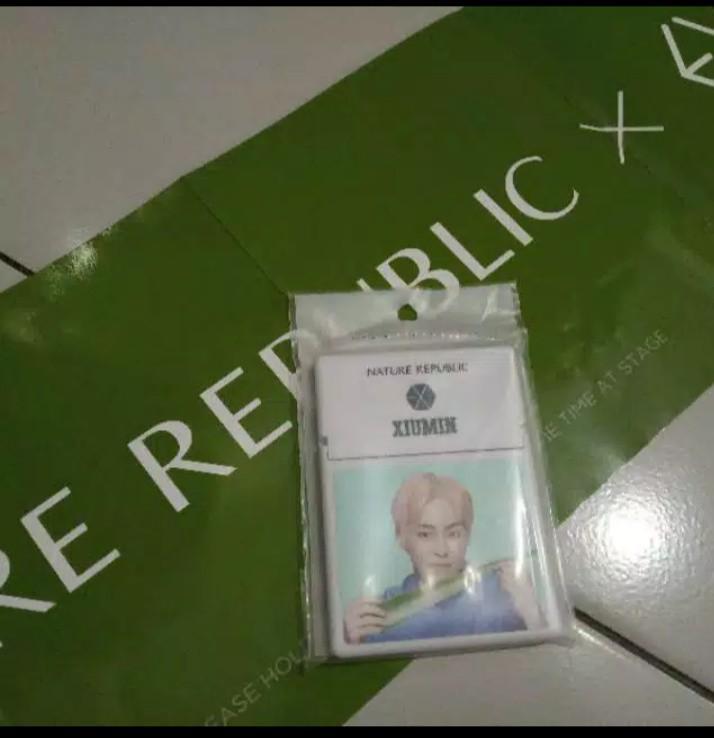 NATURE REPUBLIC X EXO! BEAUTY TOOL YAM OIL CONTROL PAPER
