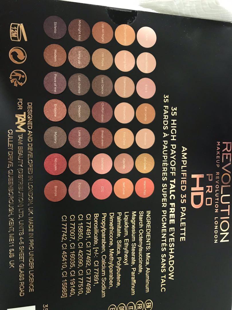 Eyeshadow palette- 35 Pans