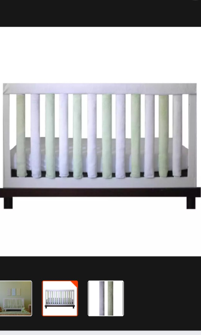 Go Mama Go Safe Wonder Bumpers Light Green White 24 Pack Babies Kids Cots Cribs On Carousell