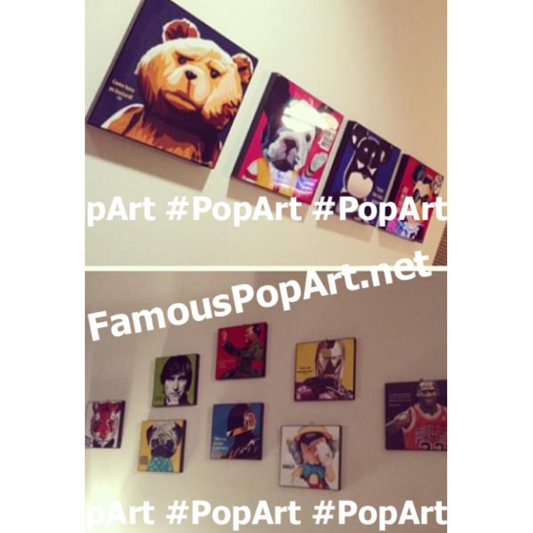 IRON MAN PopArt! Wall Portrait Pop Art