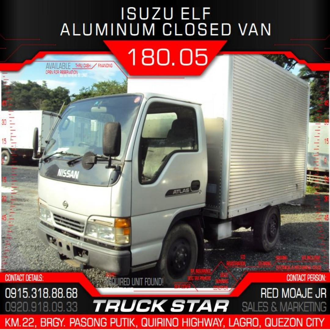 Isuzu Elf Aluminum Closed Van 4HF1 Engine 10Footer Truck For