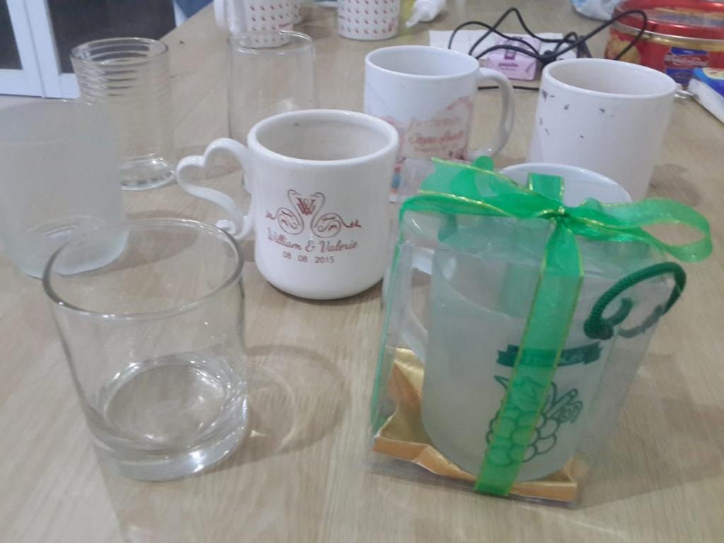 Koleksi Paket Gelas Kaca & Mug Keramik (9 Pcs)
