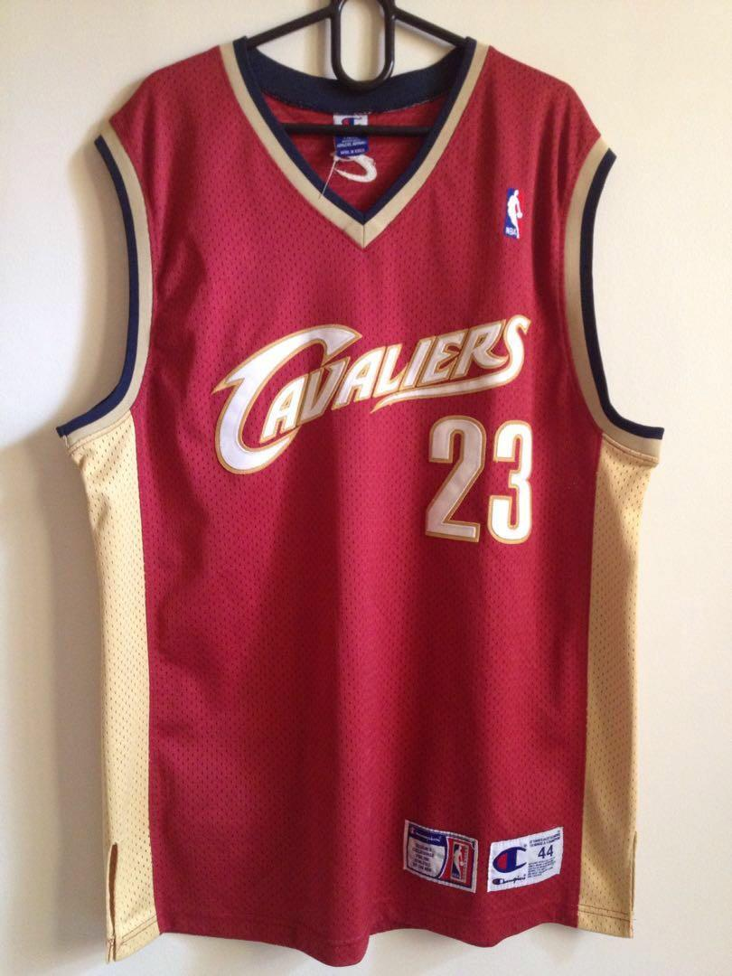 brand new d822b 4dd5c CHAMPION LEBRON JAMES Cleveland Cavaliers Retro Jersey on ...
