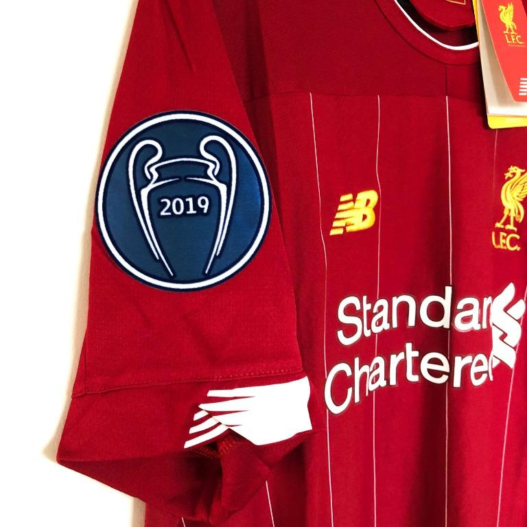 Liverpool FC HOME Jersey 19/20 w/ Champions League Final Embroidery SIZES S-3XL