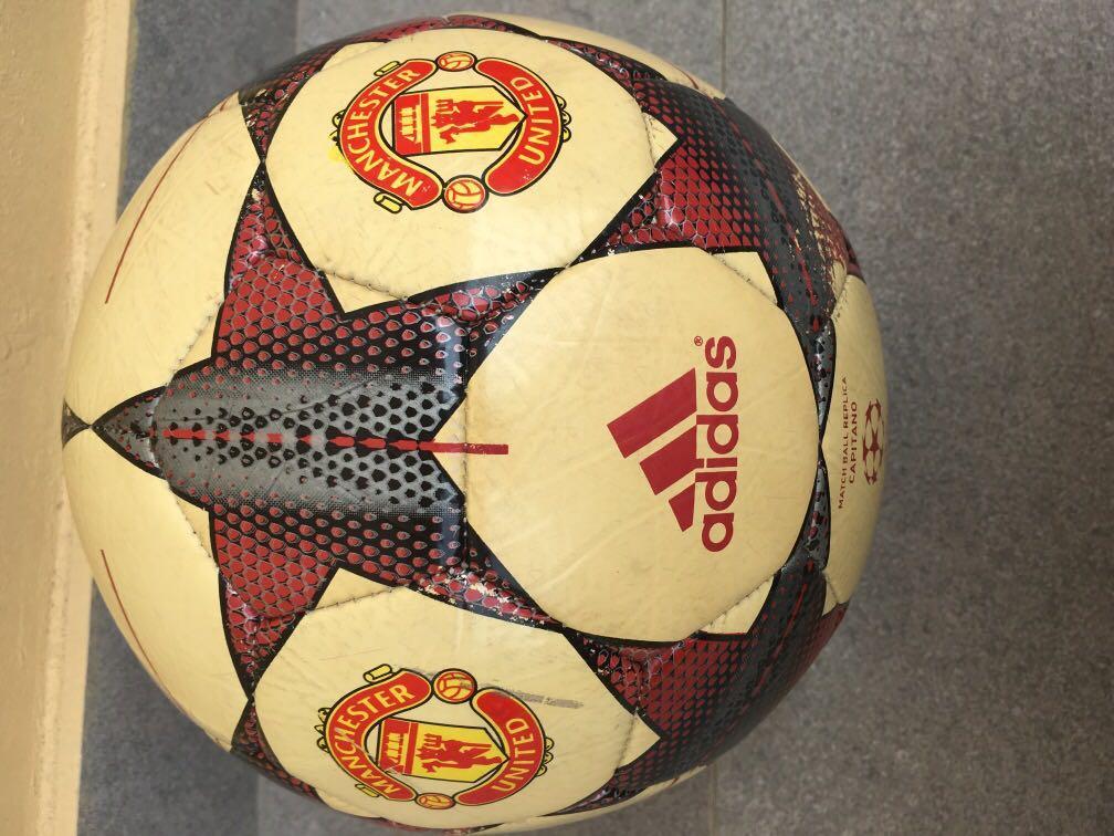 Manchester United F C Football Man U Adidas Soccer Ball Size 5 Capitano Utd New Balls