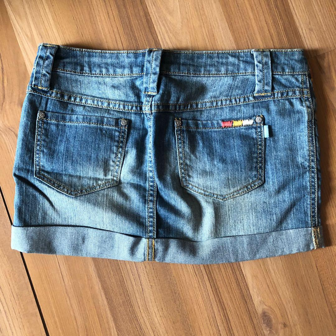 Mini Jeans Skirt Light