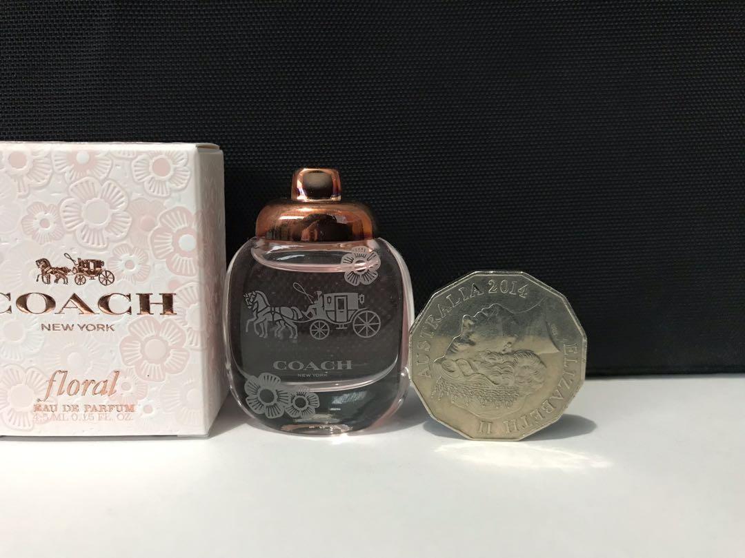 Miniature Fragrance/Perfume Coach Floral 4.5ml EDP mini + Toiletries bag