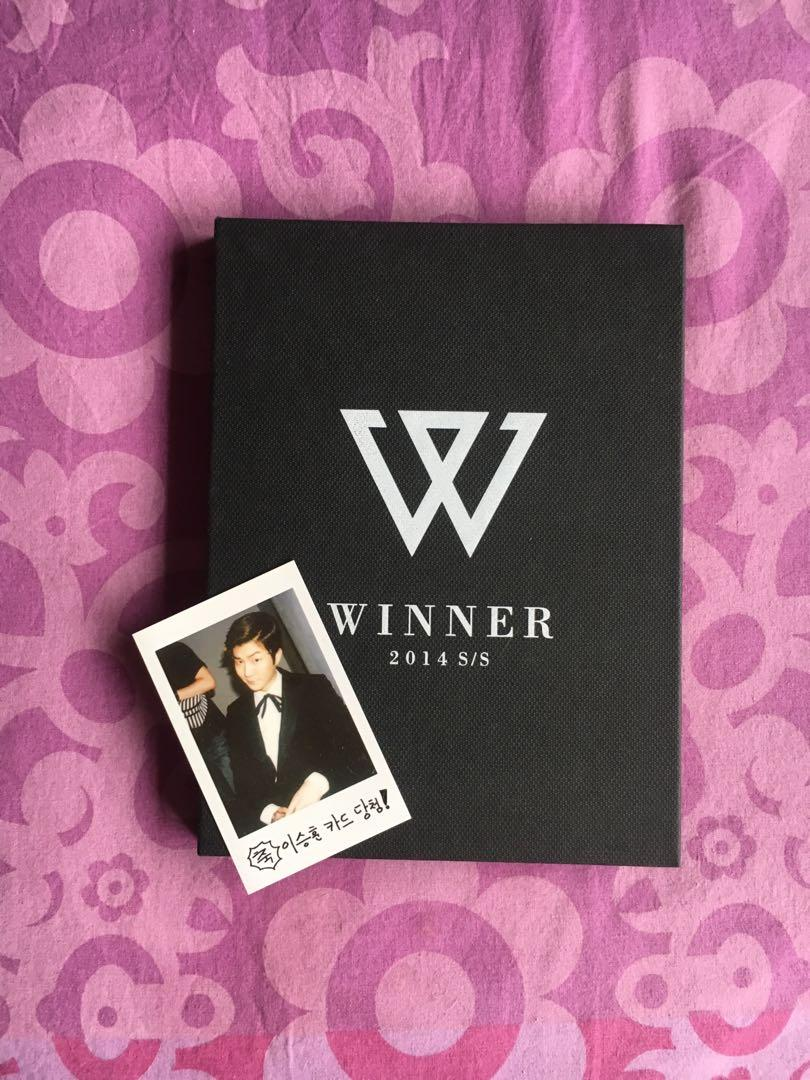 Official Winner Debut Album S/S collection with Seunghoon Photocard