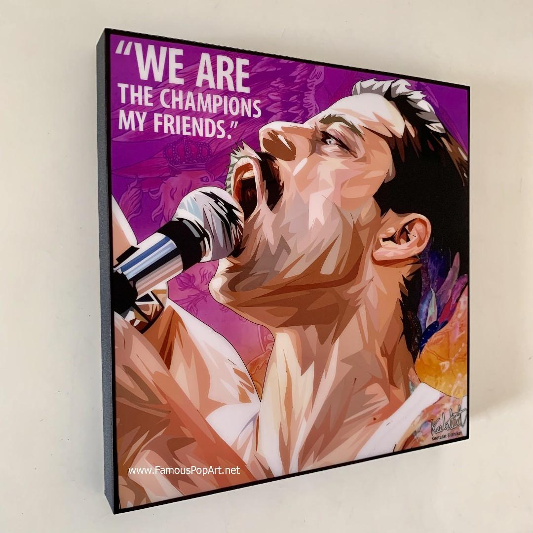 QUEEN Freddie Mercury PopArt! Wall Portrait Pop Art