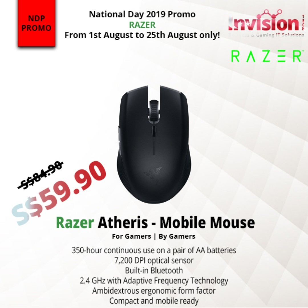 NDP PROMO* Razer Atheris - Mobile Mouse - AP Packaging on