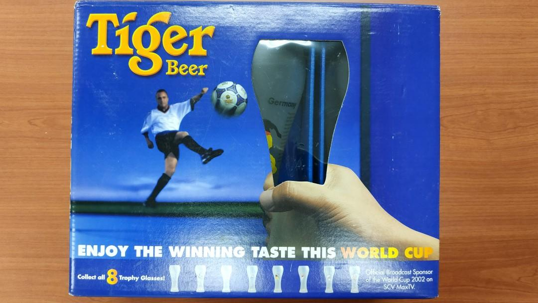 Tiger Beer World Cup 2002 Limited Edition Trophy Glass