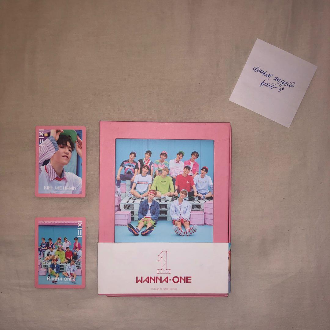 WANNA ONE 1X1=1 to BE ONE ALBUM [Pink Vers.] + JAEHWAN PHOTOCARD