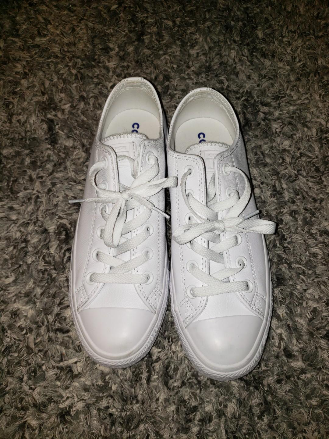 White converse - Chuck Taylor All Star Mono Leather Low Top Sneaker