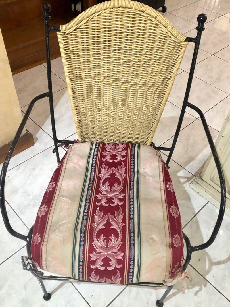 Fine Wicker Rattan Chair With Steel Frame On Carousell Pabps2019 Chair Design Images Pabps2019Com