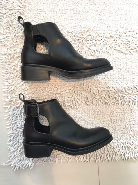 ZARA BASIC COLLECTION LEATHER ANKLE