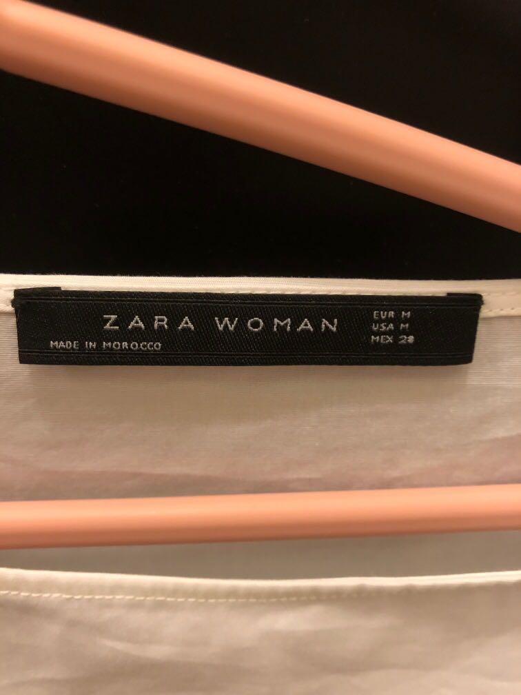 Zara White Top Shirt 襯衫