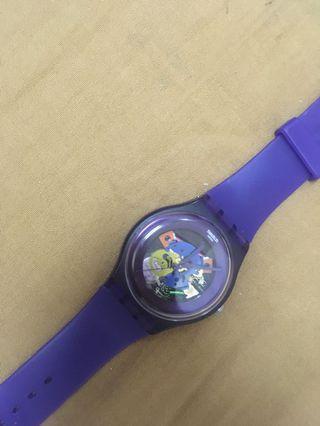 Swatch Watch machine transparent