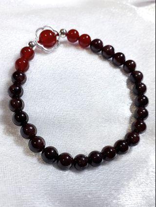 ⚜紅瑪瑙石榴造型手鍊