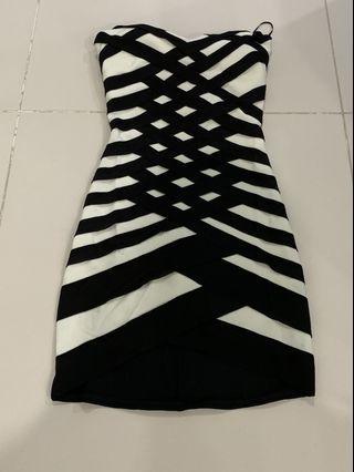 Crisscrossed Tube Dress