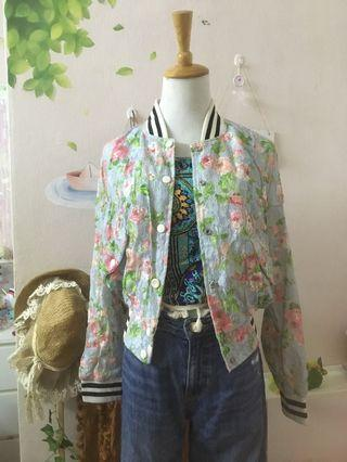 Floral Jacket skirt Jeans pant